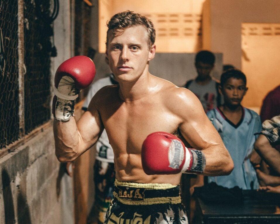 Olly Gaspar fighting muay thai in thailand