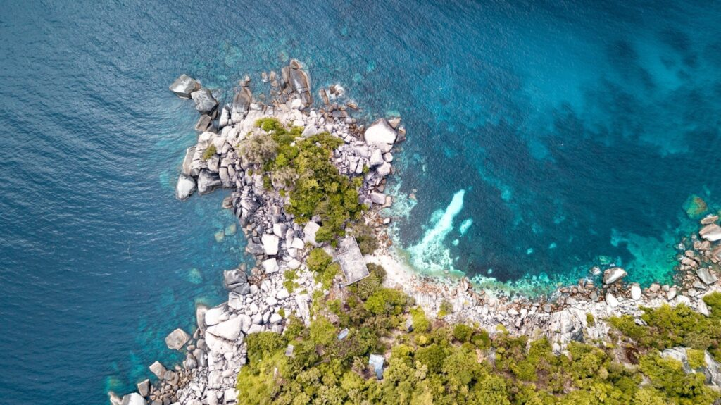 drone shot in koh tao abandoned resort