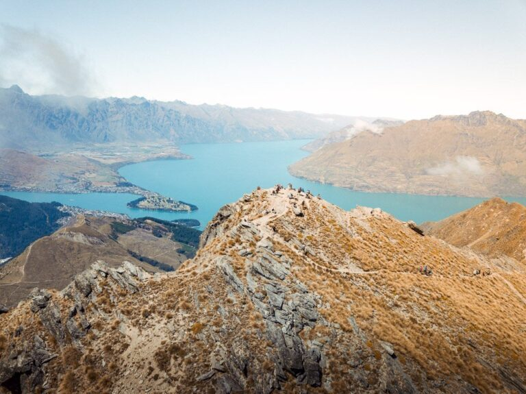 BEN LOMOND SUMMIT AND LAKE WAKATIPU DRONE PHOTO