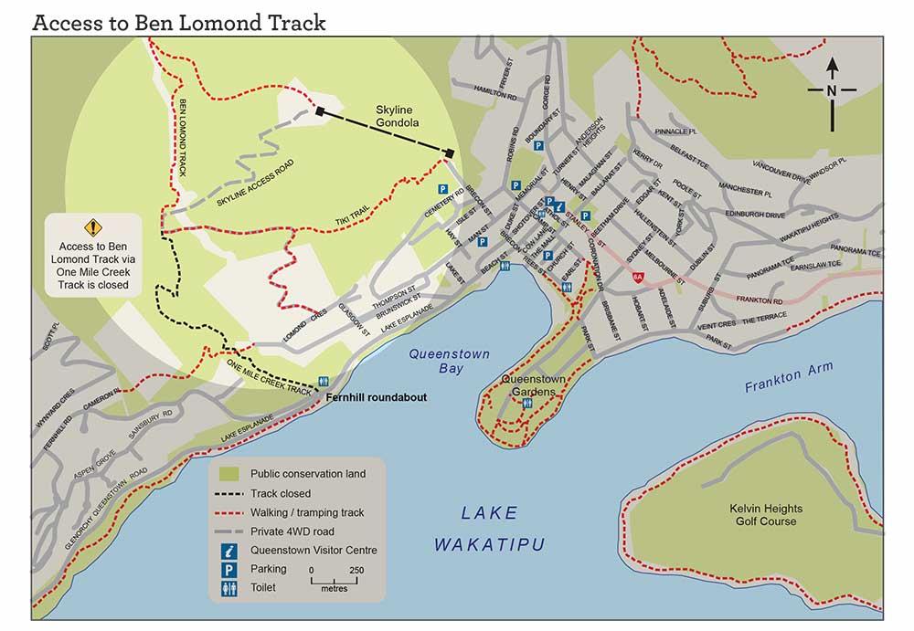 BEN LOMOND QUEENSTOWN HIKE TRAIL MAP