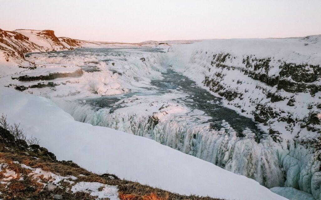 gullfoss waterfall in iceland's golden circle