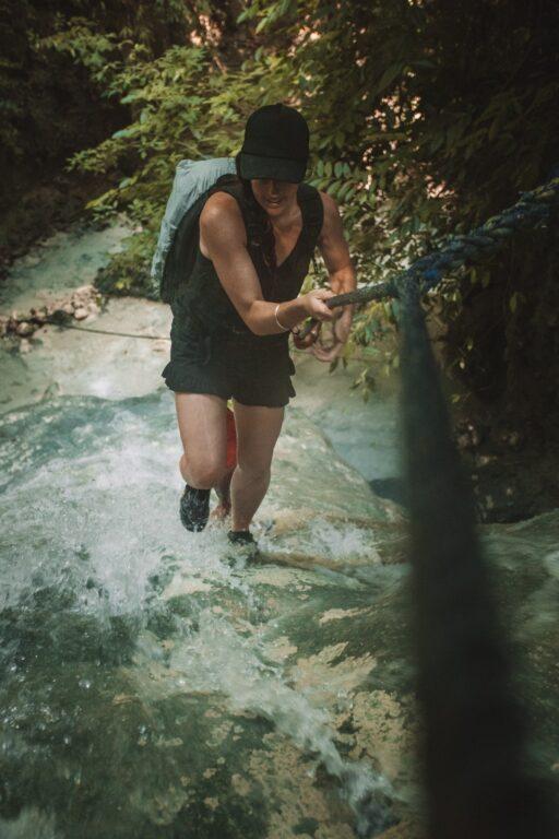climbing at aguinid falls in cebu