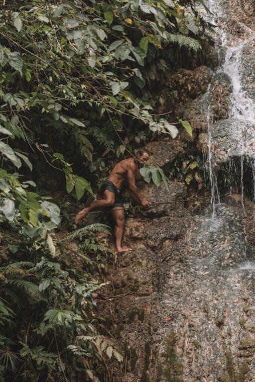 cambais waterfall cliff jumping