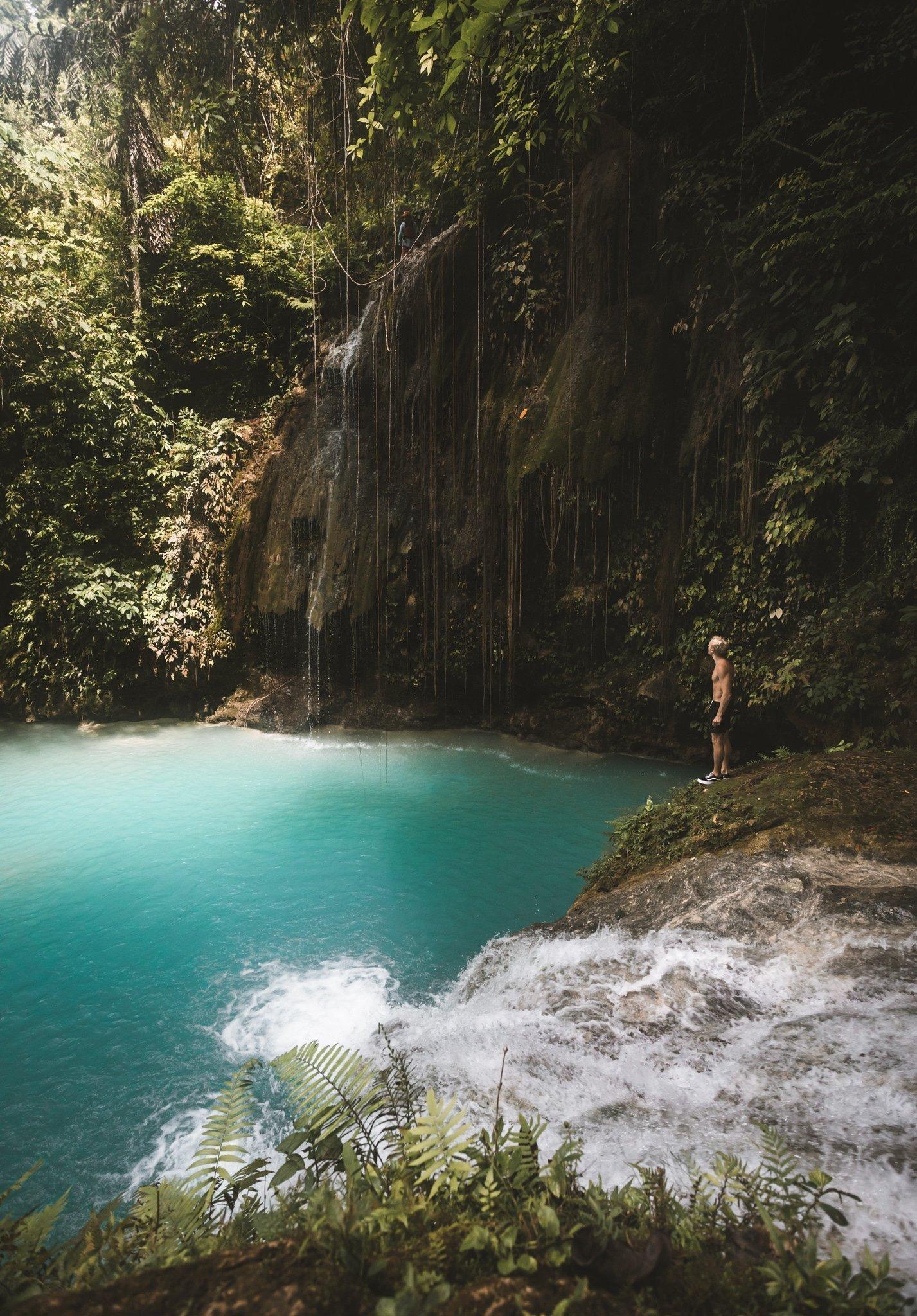 Cambais Falls in Alegria Cebu