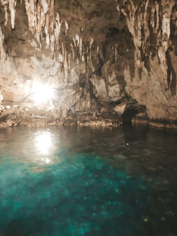 water in hinagdanan cave