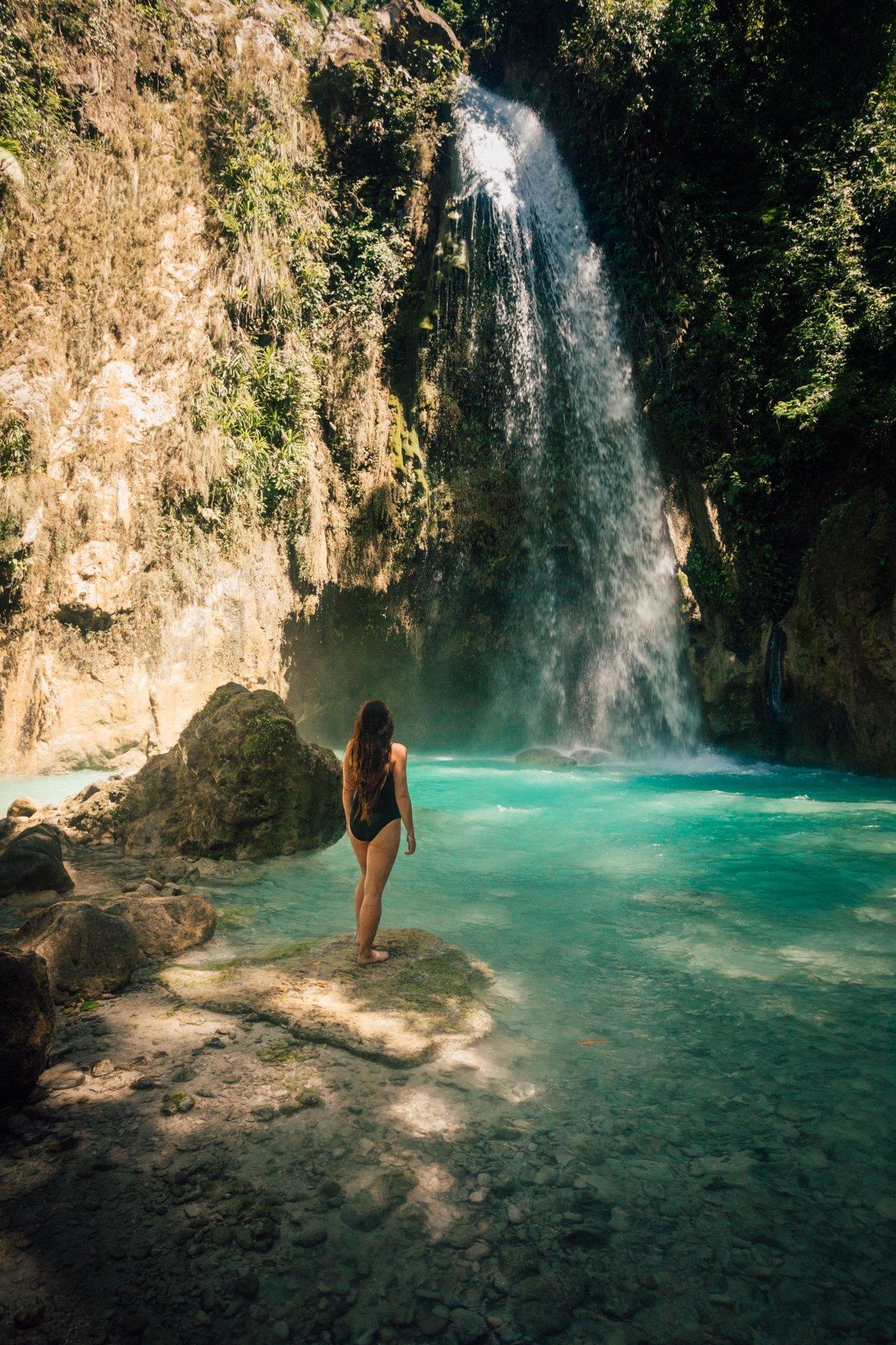 haylea at inambakan falls in cebu