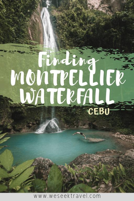 montpellier waterfall in cebu pinterest pin