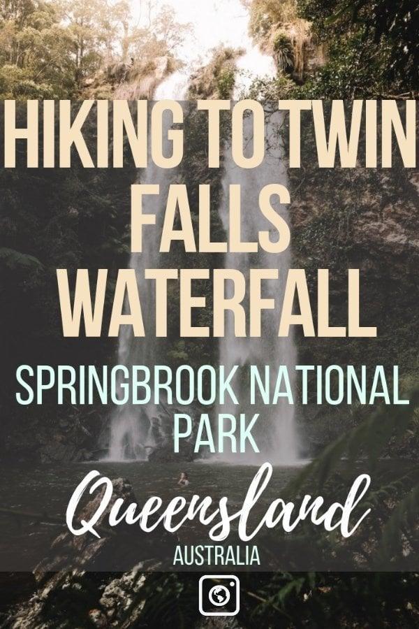 weseektravel pin hiking to twin falls waterfall