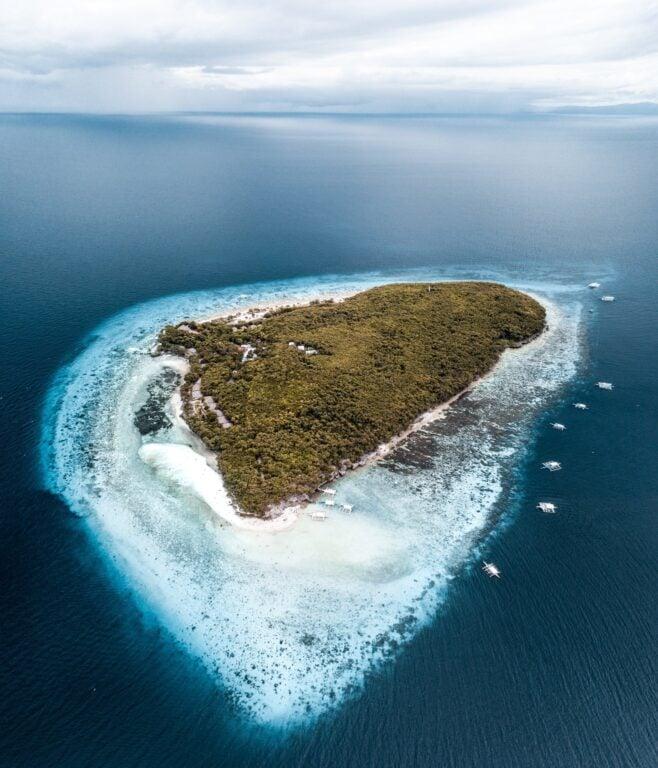 Sumilon Island drone photo