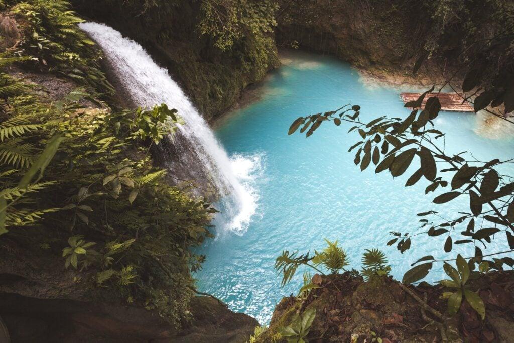 Kawasan Falls from above viewpoint