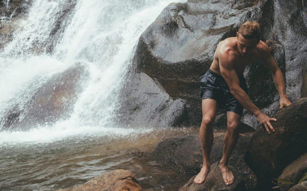 olly gaspar at sai rung waterfall