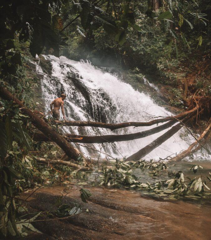 Ton Chong Fa Waterfall after monsoon