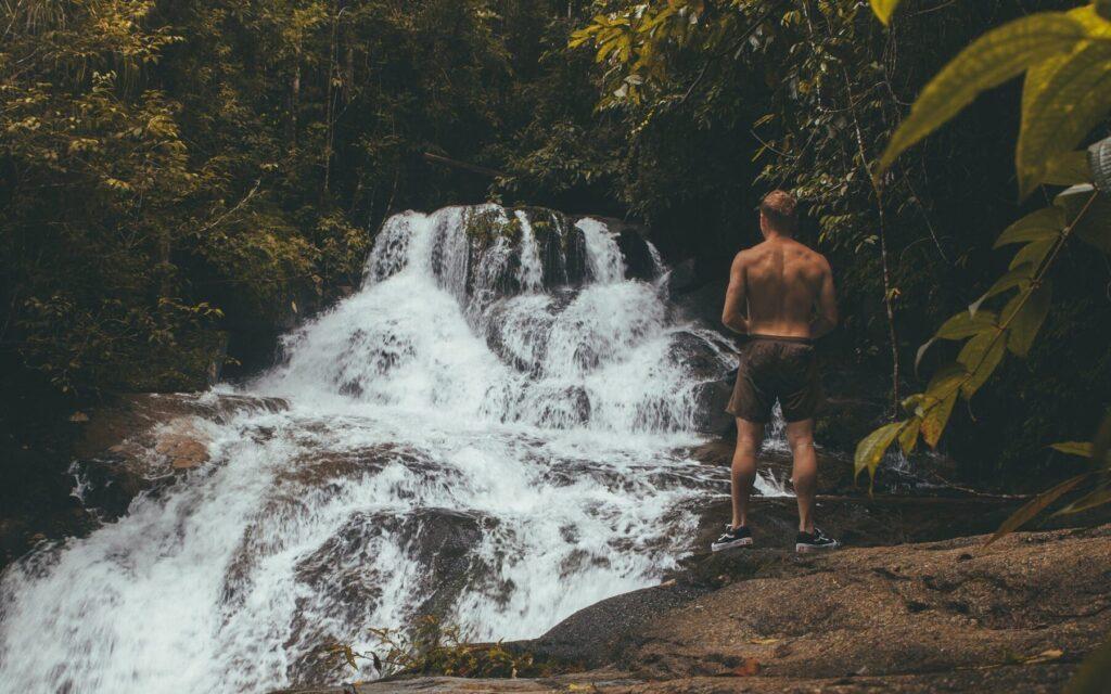 Level three waterfall at ton chong fa khao lak thailand