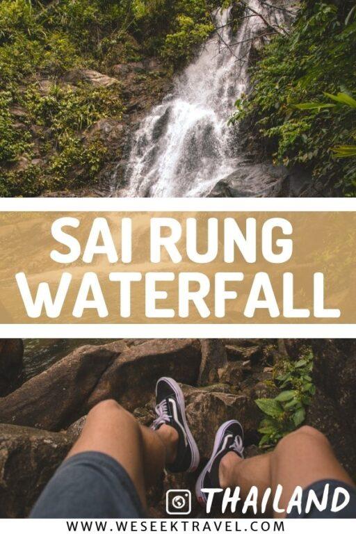 waterfall in Khao Lak sai rung