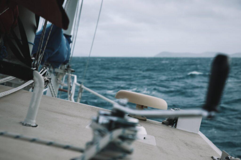 Malaika sailing in Rough weather