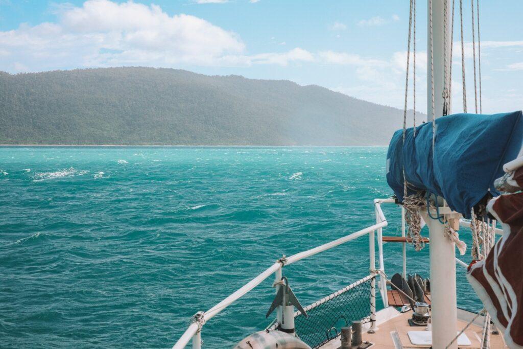 sailing to Airlie Beach
