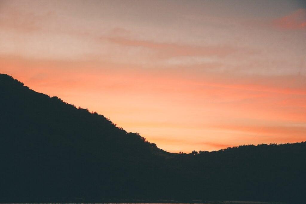 sunset at keswick island