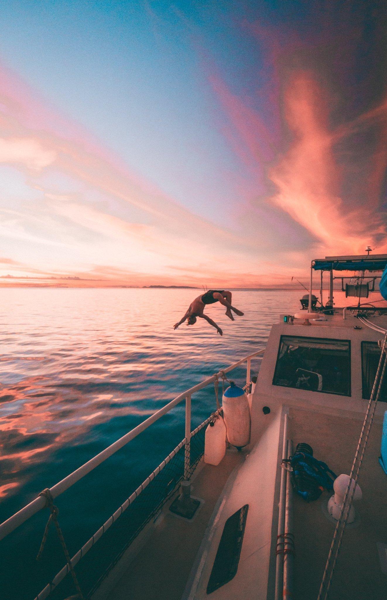 Magnetic Island Sunset Spot Backflip
