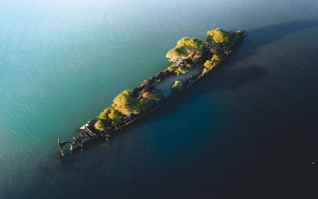 MAGNETIC ISLAND WRECK COCKLE BAY SS ADELADE DRONE PHOTO