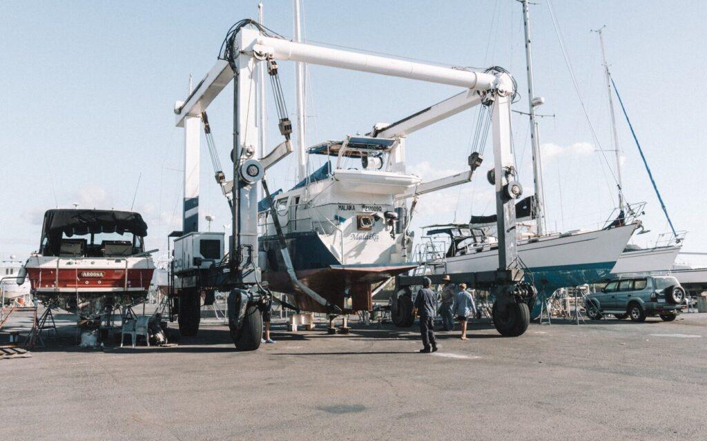 Sailing Log Week 6 Boat Repairs in Townsville Malaika at Rosshaven Marine
