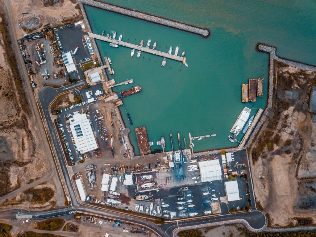Aerial View of Rosshaven Marine in Townsville