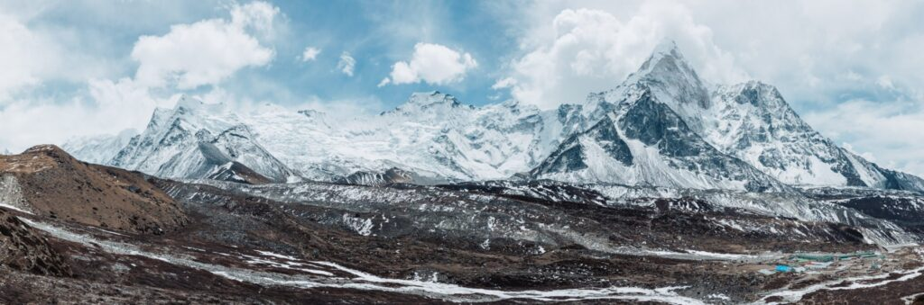View from Chukhung Ri in Himalayas