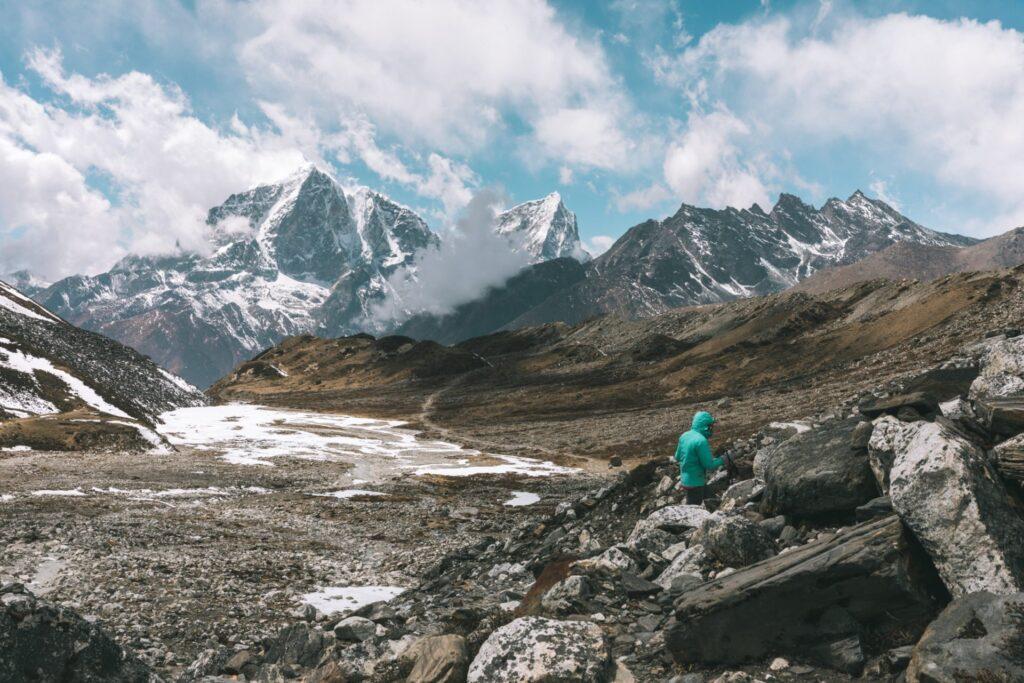 Island Peak Base Camp Track Acclimatizaiton HIke from Chukhung Nepal