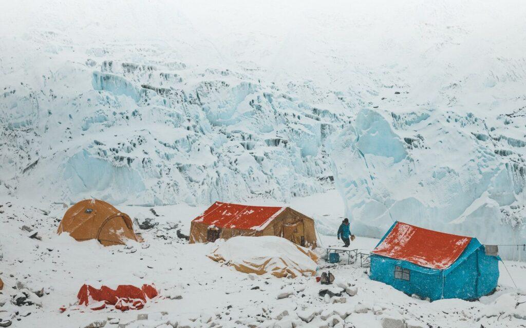 EVEREST BASE CAMP ON THE THREE PASSES TREK IN NEPAL