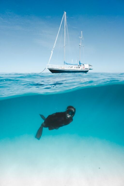 SWIMMING AT THE GREAT BARRIER REEF NEAR CAIRNS