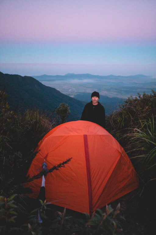 MT BARTLE FRERE CAMPGROUND, BARTLE FRERE EASTERN SUMMIT CAMP TENT
