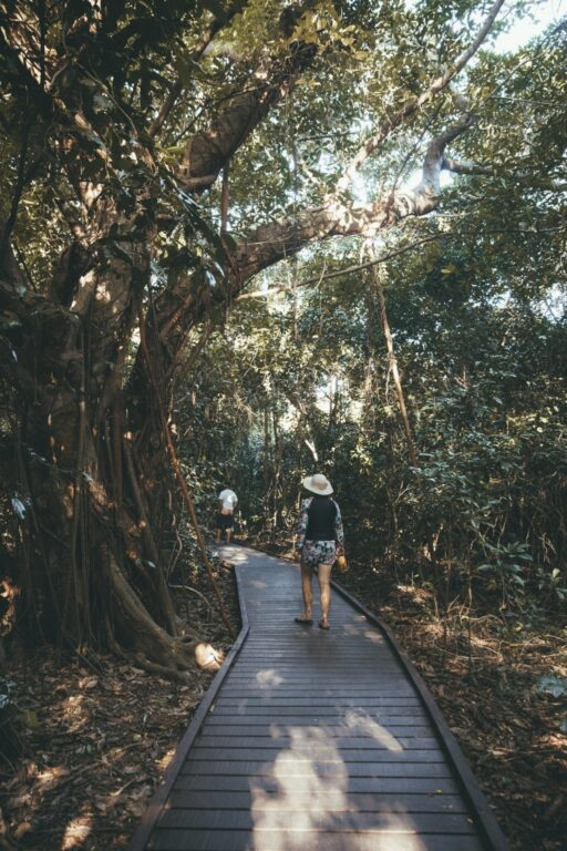 Walking around Green Island