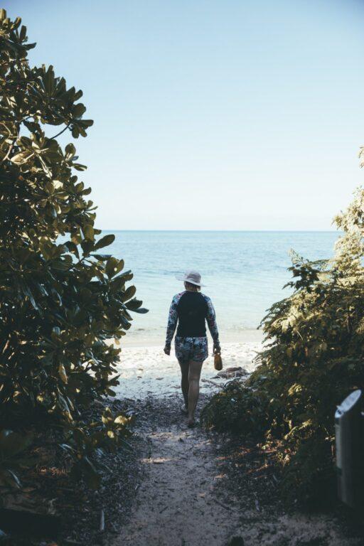Walking on Green Island Cairns