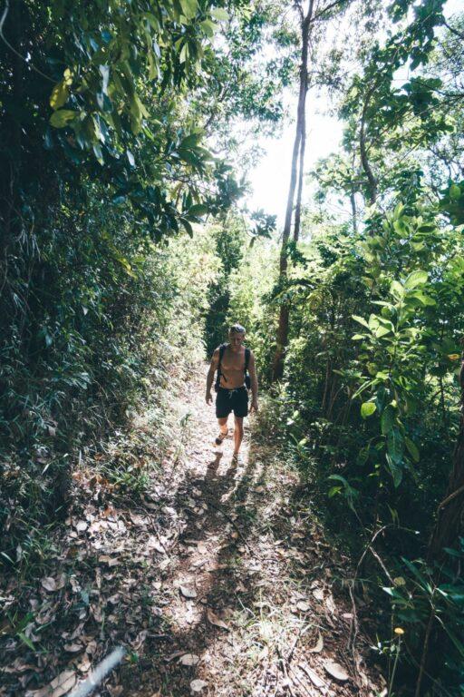 HIKING ON DUNK ISLAND QUEENSLAND AUSTRALIA