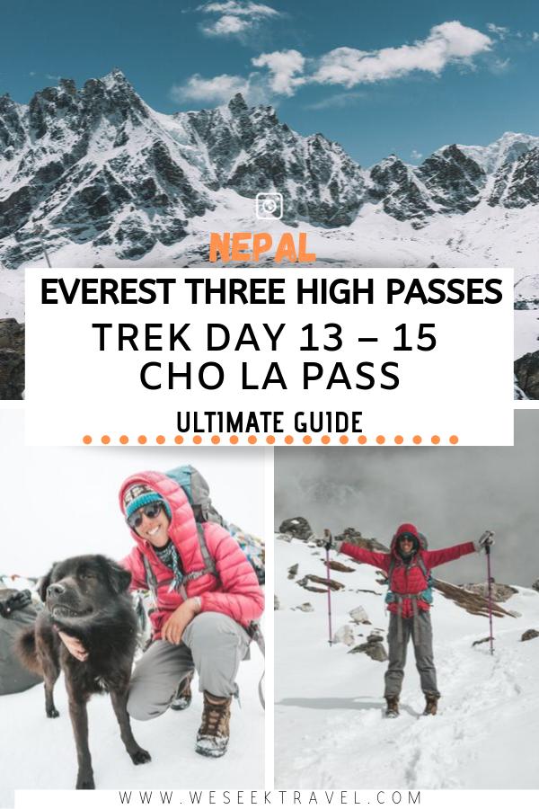 Cho La Pass Nepal Three High Passes Trek