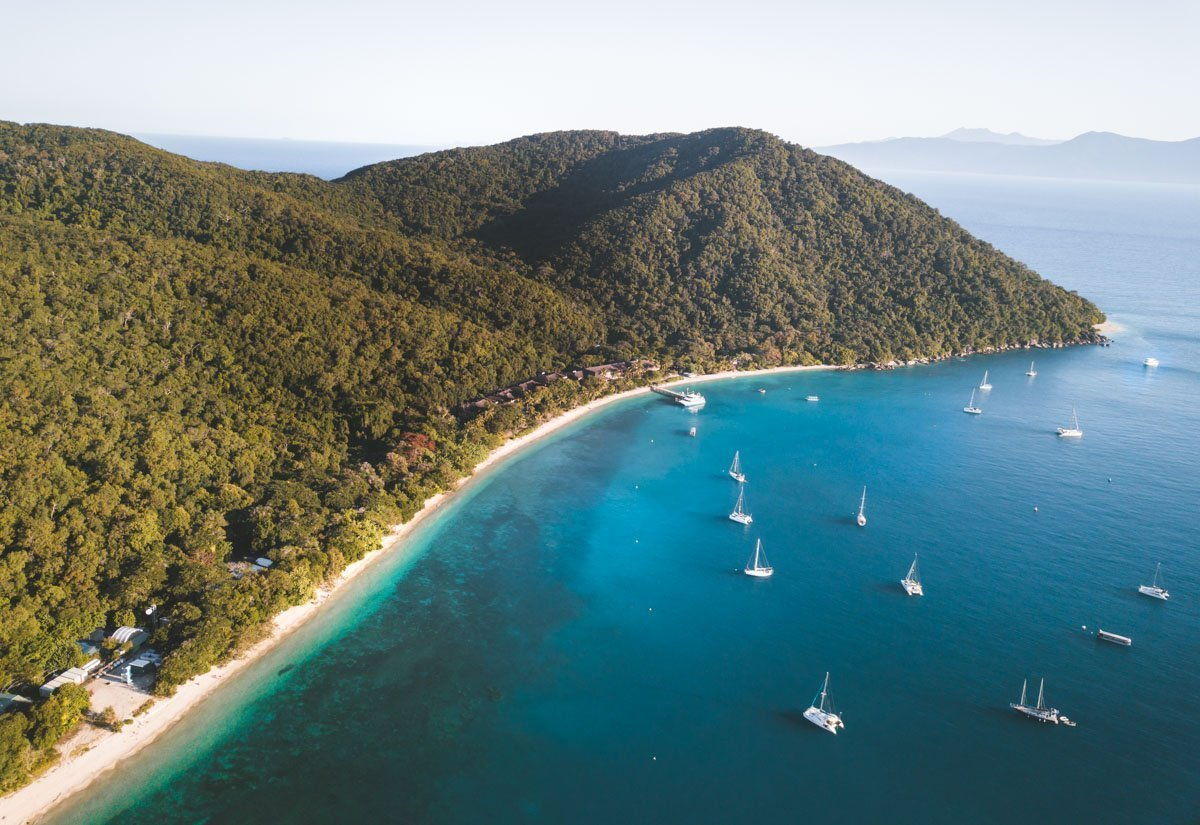 THINGS TO DO FITZROY ISLAND, ISLANDS OFF CAIRNS, DRONE