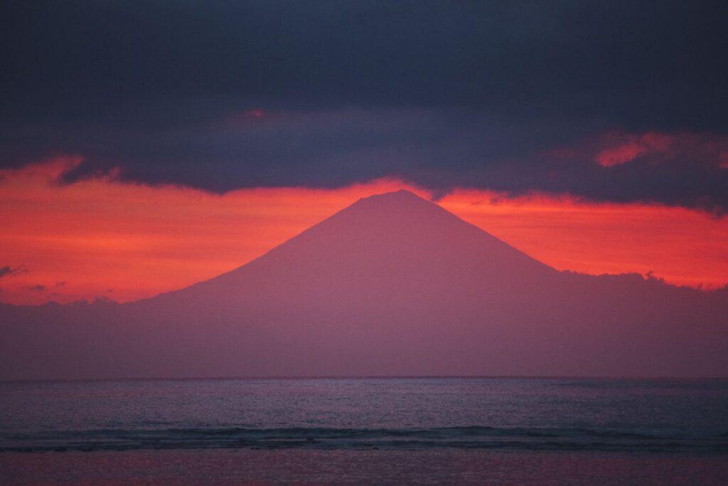 Mount Agung Sunset From Gili Trawangan