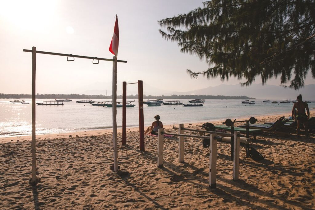 BEACH GYM THINGS TO DO ON GILI TRAWANGAN