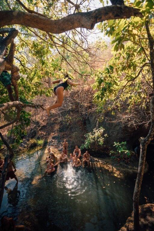 MOYO ISLAND WATERFALL TREE JUMPING