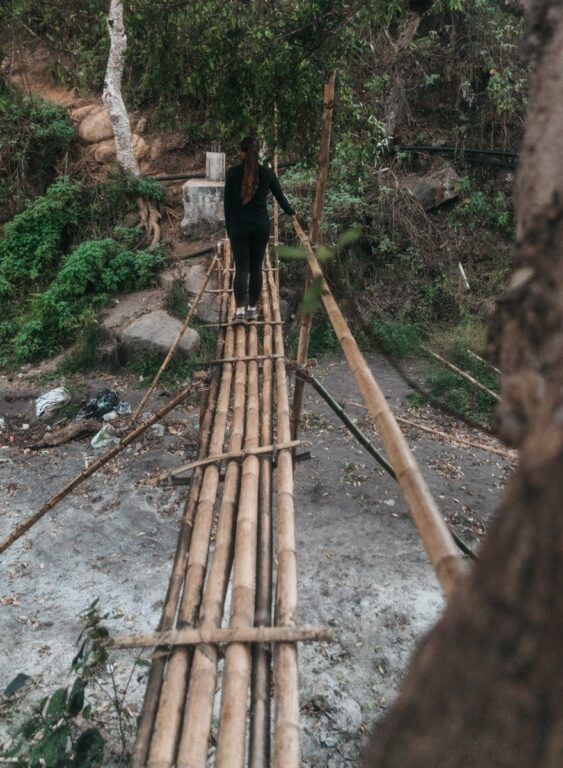 PERGASINGAN HILL WITHOUT A GUIDE BAMBOO BRIDGE