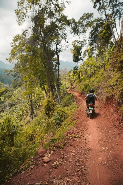 ROAD IN CENTRAL LOMBOK LEADING TO TIU SEKEPER WATERFALL