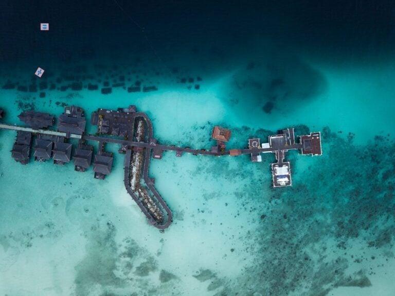 MABUL ISLAND DRONE, SABAH BORNEO