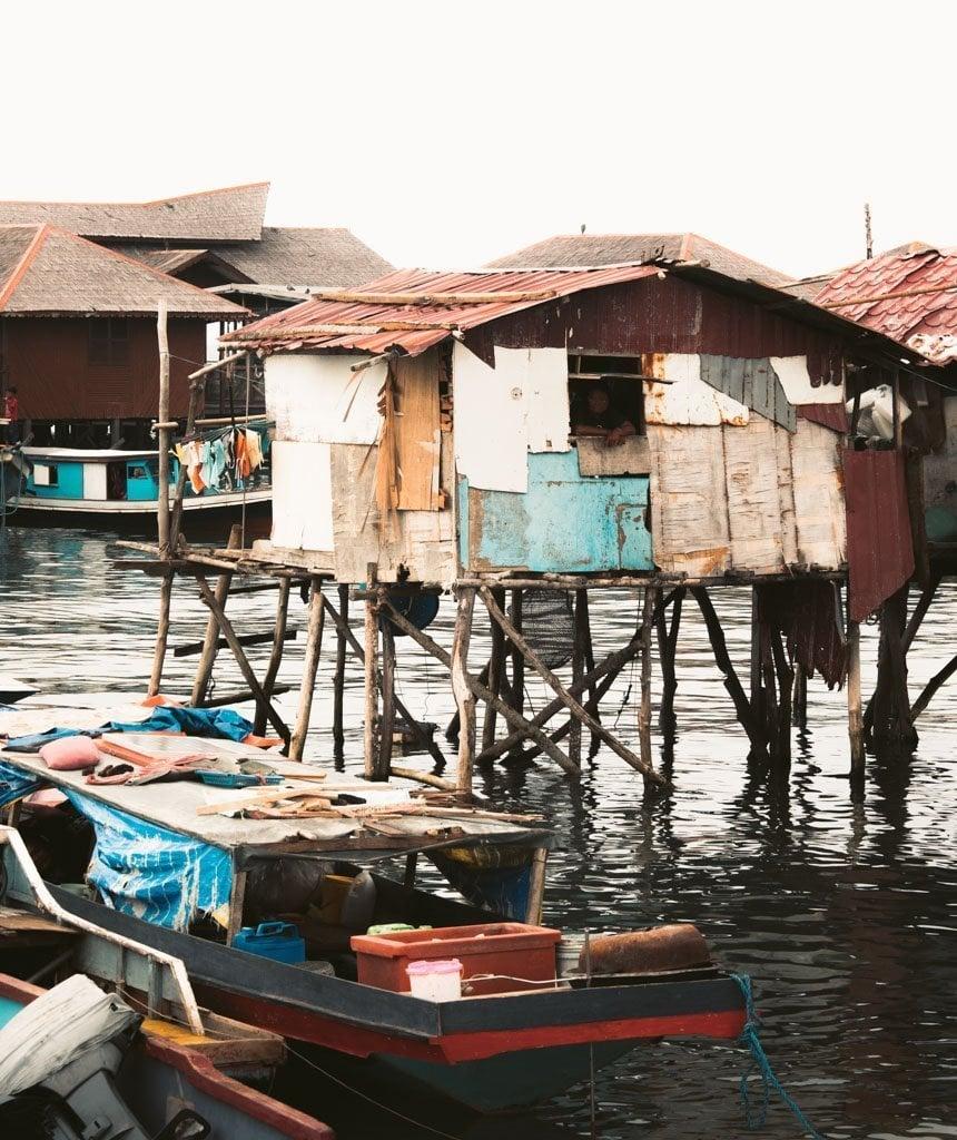 SEA GYPSIE COMMUNITY ON MABUL ISLAND, SABAH, BORNEO