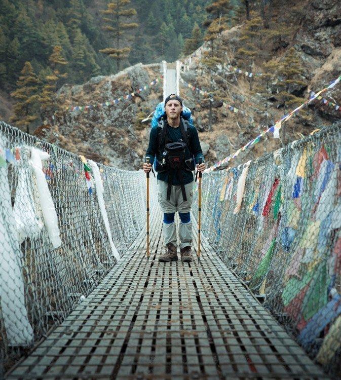 olly gaspar hiking in the himalayan khumbu
