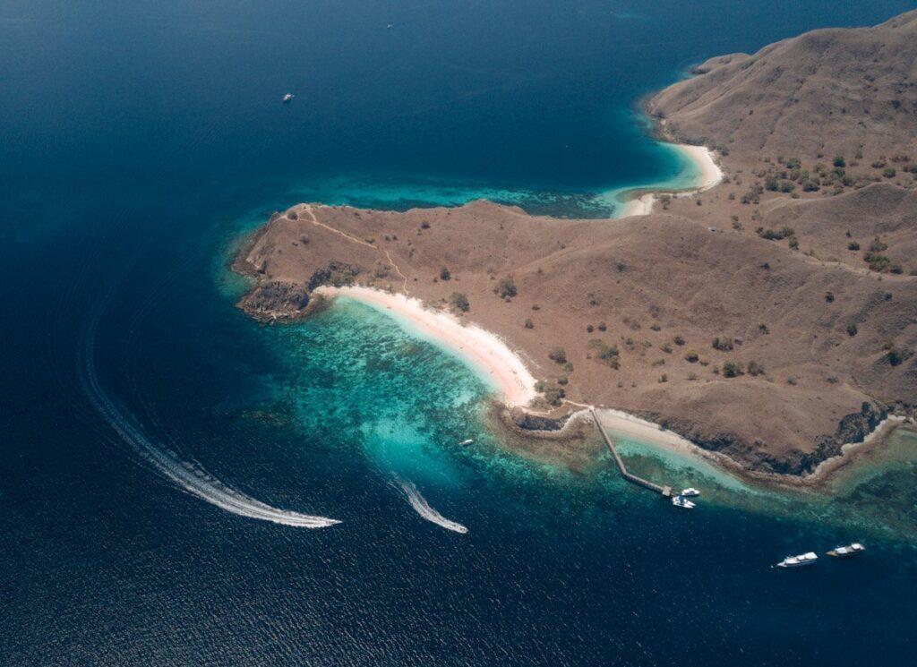 DRONE KOMODO ISLAND, KOMODO NATIONAL PARK