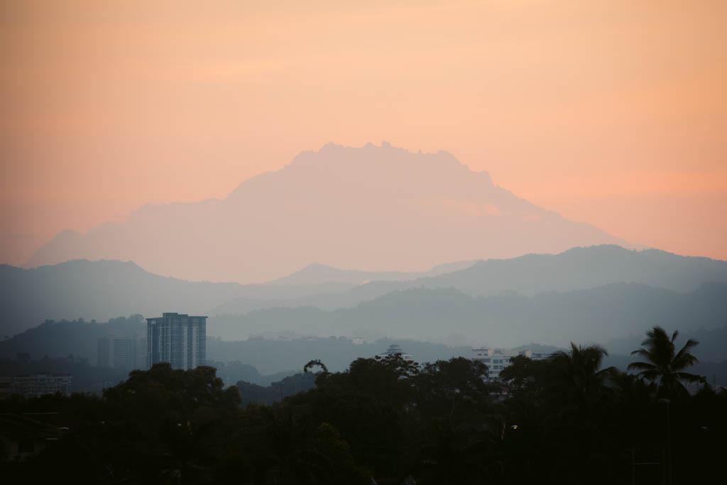 Kota Kinabalu Sunrise with Mount Kinabalu View