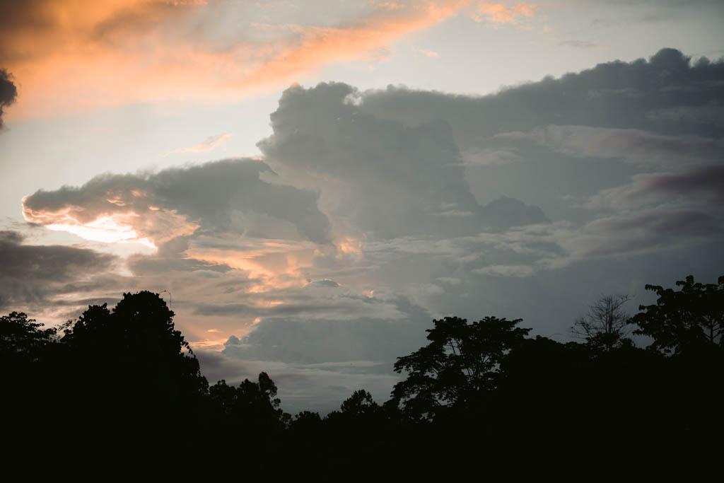 SUNSET AT SEPILOK, SABAH, BORNEO