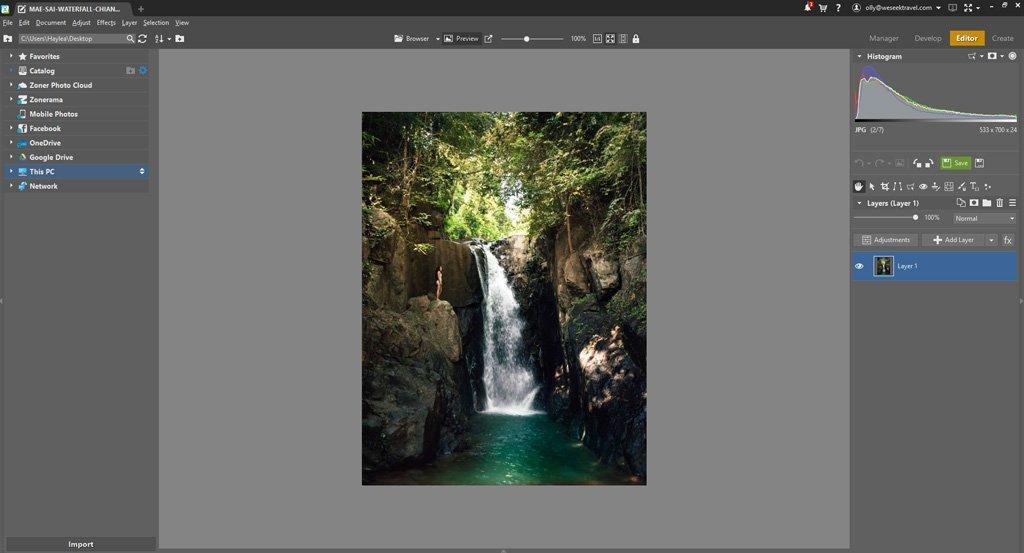 ZONER PHOTO STUDEO X USER INTERFACE EDITOR MODULE