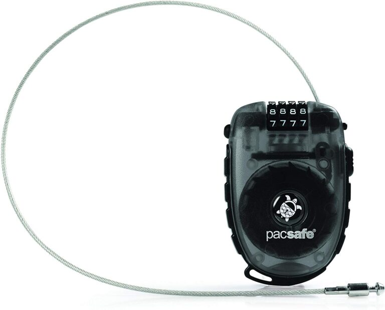 PACSAFE RETRACTABLE LOCK FOR TRAVEL