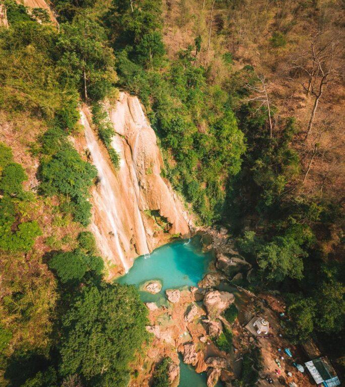ANISAKAN FALLS, MYANMAR WATERFALL