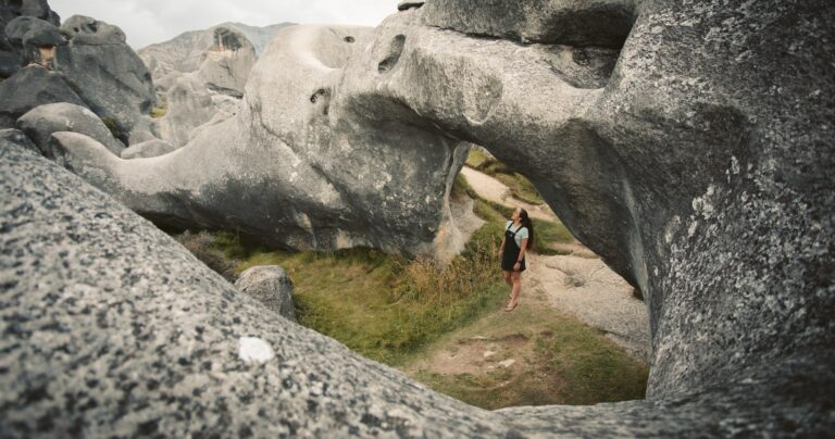 CASTLE HILL NEW ZEALAND LIMESTONE ROCK FORMATIONS KURA TAWHITI CONSERVATION AREA